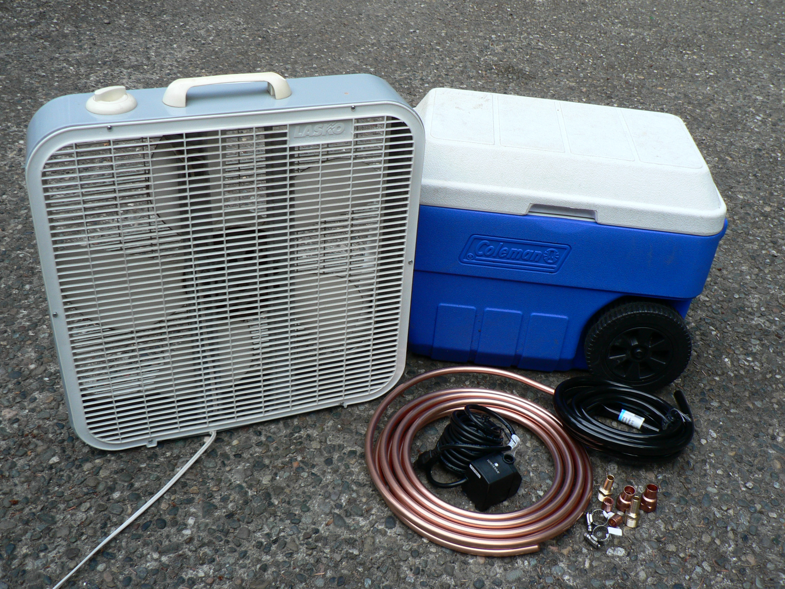 How To Make Your Own Homemade Air Conditioner Swamp Cooler Power Supply Wiring Diagram Components
