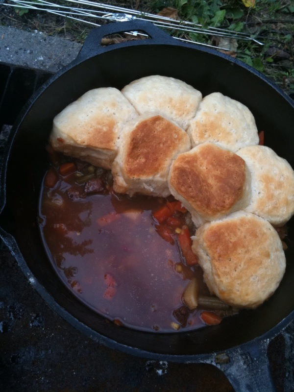 Stews Ready!  Look at those Biscuits!