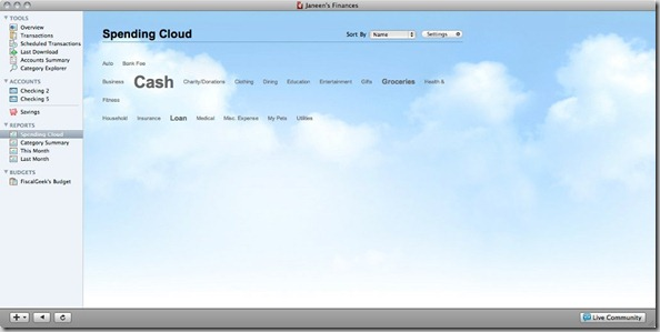 Quicken Mac Review Spending Cloud